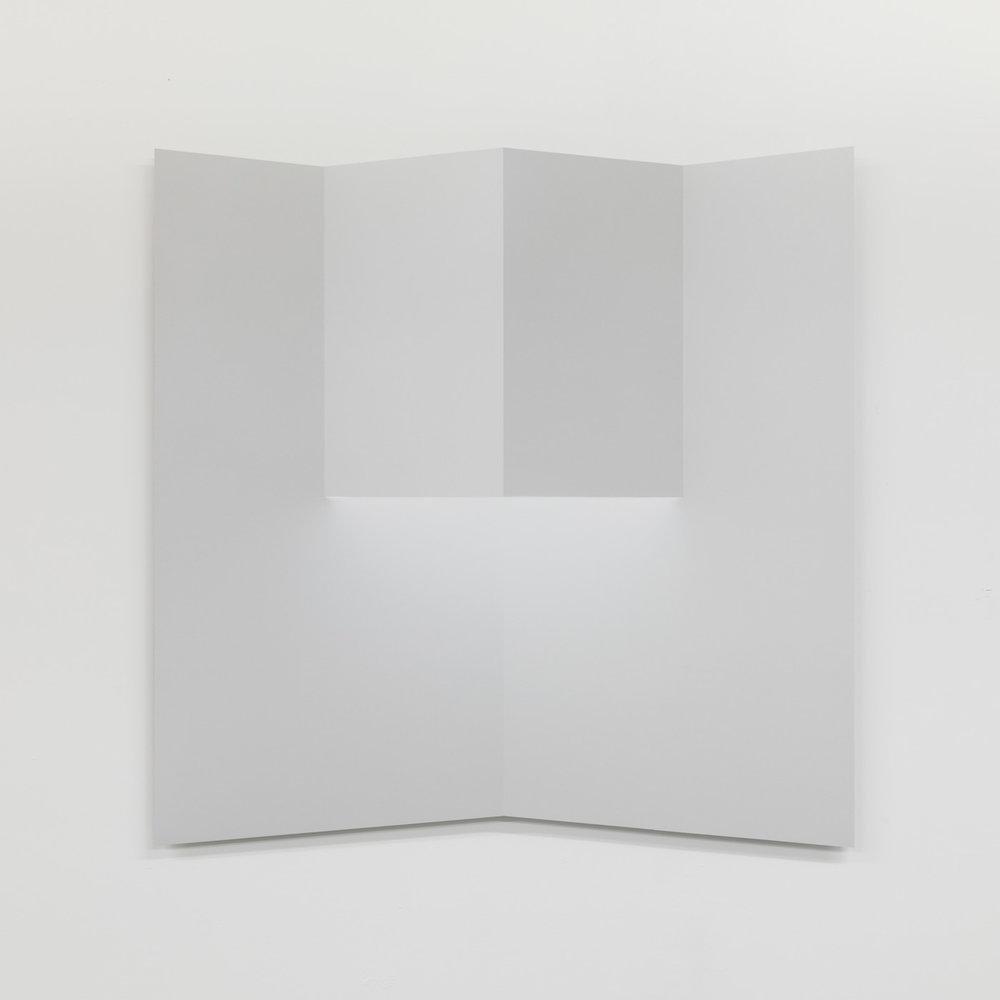 """Caroline Cloutier,  Pliage 2,  2018, encre sur papier monté sur aluminium, 108 x 108 cm (42.5"""" x 42.5"""")"""