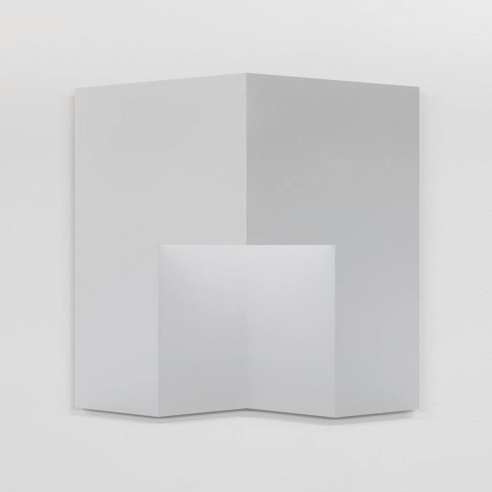 """Caroline Cloutier,  Pliage 1 , 2018, encre sur papier monté sur aluminium, 108 x 108 cm (42.5"""" x 42.5"""")"""