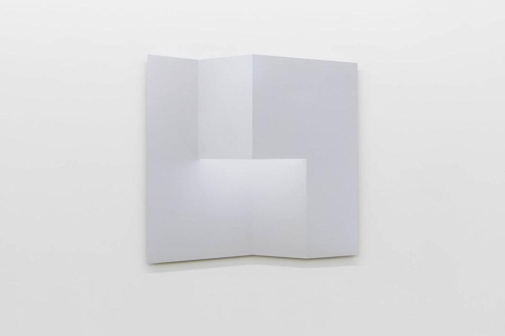 """Caroline Cloutier,  Pliage 3 , 2018, encre sur papier monté sur aluminium, 108 x 108 cm (42.5"""" x 42.5"""")"""