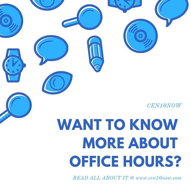 Still confused about office hours? Need advice from a student's perspective? Need info on the offerings? Read the article here: https://www.cen10now.com/advice/2018/9/23/want-to-know-more-about-office-hours.  #cen10huskies #cen10now #officehours