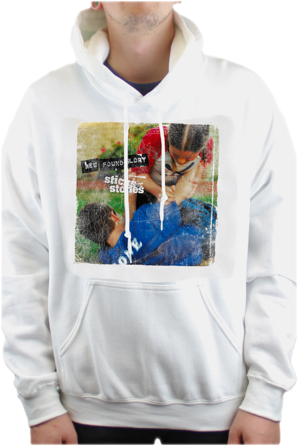 S&S PULLOVER HOODIE (WHITE) $40.00