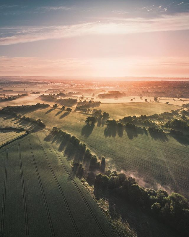 Shadow Games - Early starts have their perks! Misty mornings over England's green and pleasant land. - #england #drone #photography . . . . #lovegreatbritain #worldshotz #visitengland #moodygrams #agameoftones #fatalframes #wildernessculture #jaw_dropping_shots #beautifuldestinations #gramslayers #shotzdelight #aov #discoverlandscape #theimaged #lonelyplanet #awesome_earthpix #letsgosomewhere #epic_captures #bevisuallyinspired #earthfocus #globalcapture #roamtheplanet #thelensbible #createcommune #earthcapture #visualambassadors #aov10k