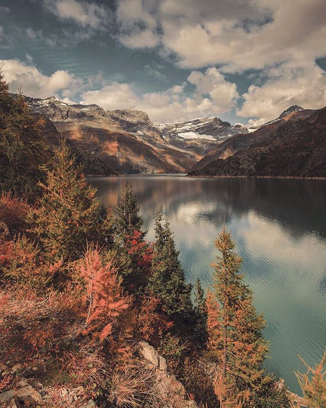 Emosson - At an elevation of 1930 metres, Lac d'Émosson is a reservoir in the canton of Valais, Switzerland. This beautiful place is one of countless, picturesque landscapes that can be found all over Switzerland. We can't wait to come back! - #switzerland #landscape #photography . . . . #inlovewithswitzerland #visitswitzerland #switzerland_vacations #agameoftones #moodygrams #artofvisuals #stayandwander #eclectic_shotz #visualsofearth #discoverearth #folkscenery #aov #earthofficial #earth #earthpix #shotzdelight #greatnorthcollective #thevisualscollective #earthfocus #discoverglobe #roamtheplanet #visualsoflife #theimaged #beautifuldestinations #depthobsessed #passionpassport #ourplanetdaily