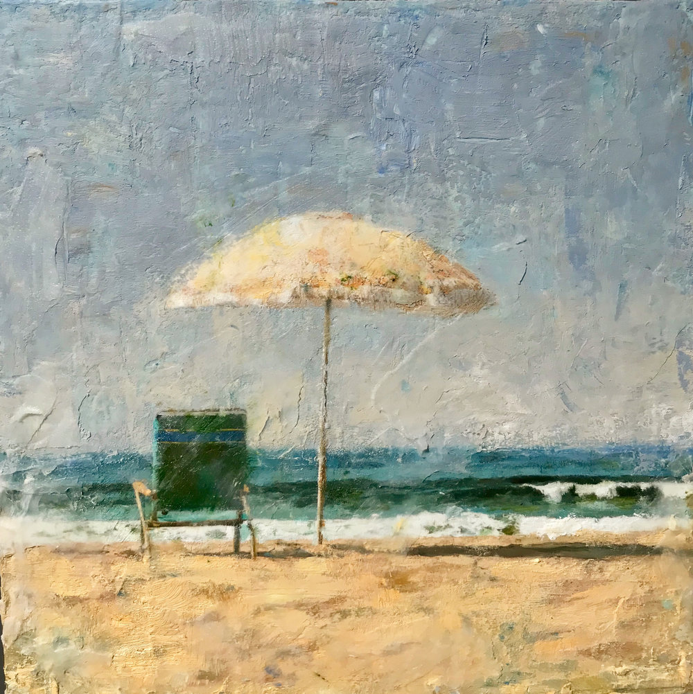 "Summer Daze - 6"" x 6"" Oil and Cold Wax - Private Collection"