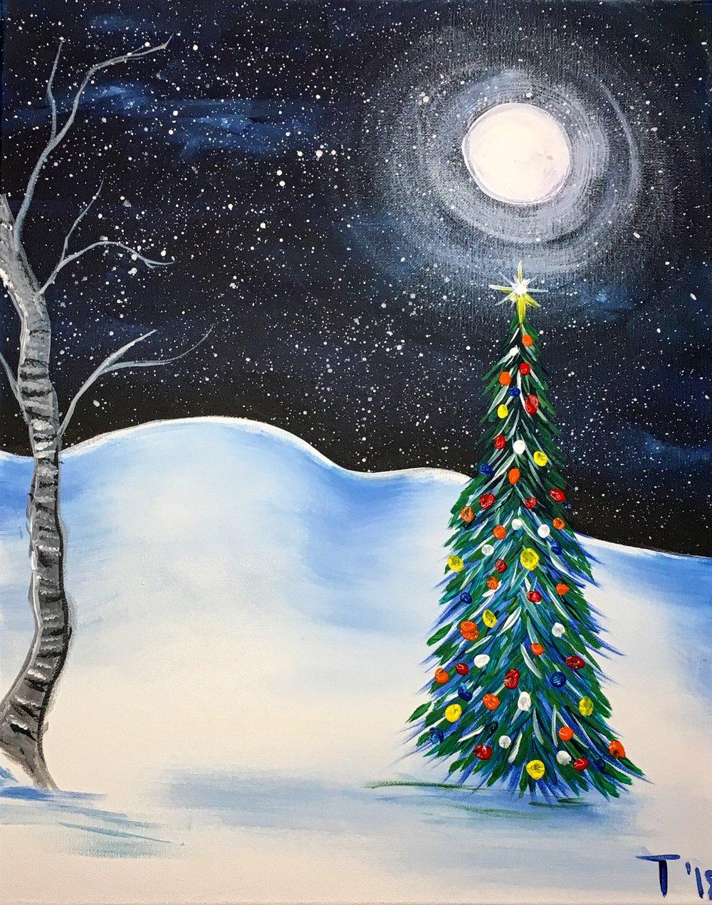 Xmas Tree & Moon