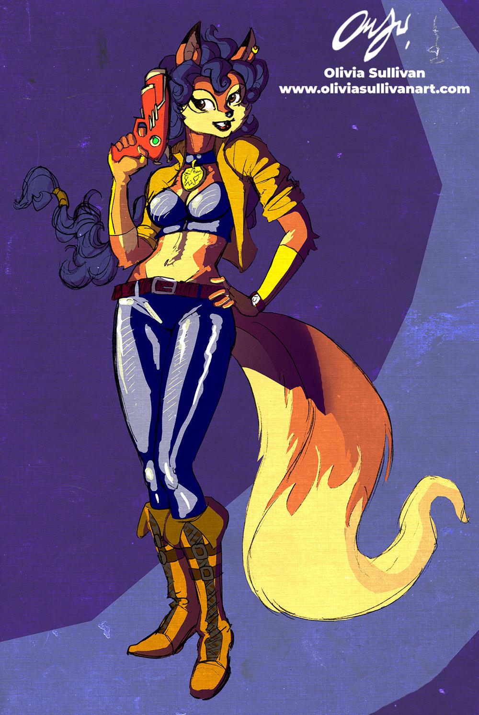 Carmelita fox from Sly Cooper