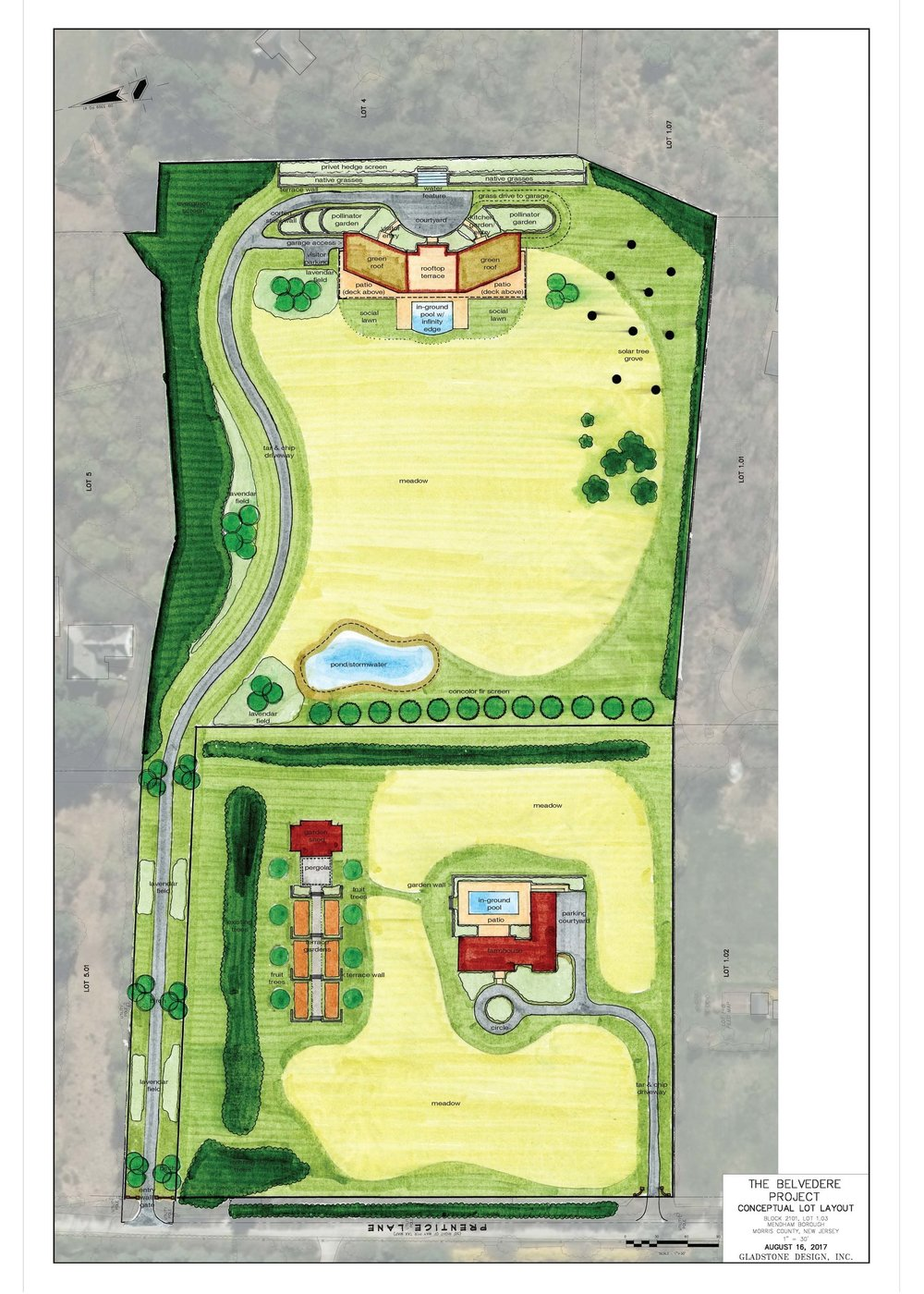 Site plan for  lot-1  and  lot-2