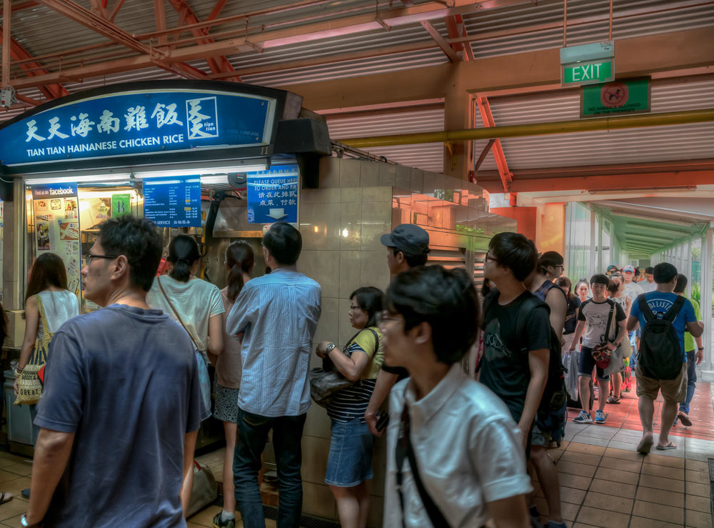 Maxwell Road Food Centre - This stall, in particular, usually has lines around the corner and completely out the back entrance of the hawker centre.