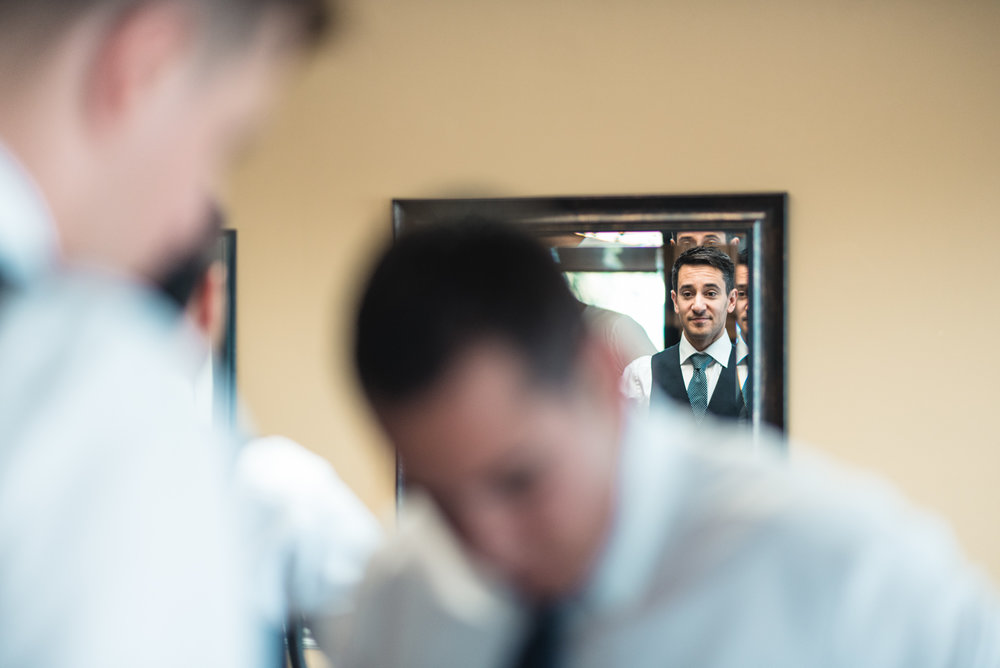 Groom mirror prep