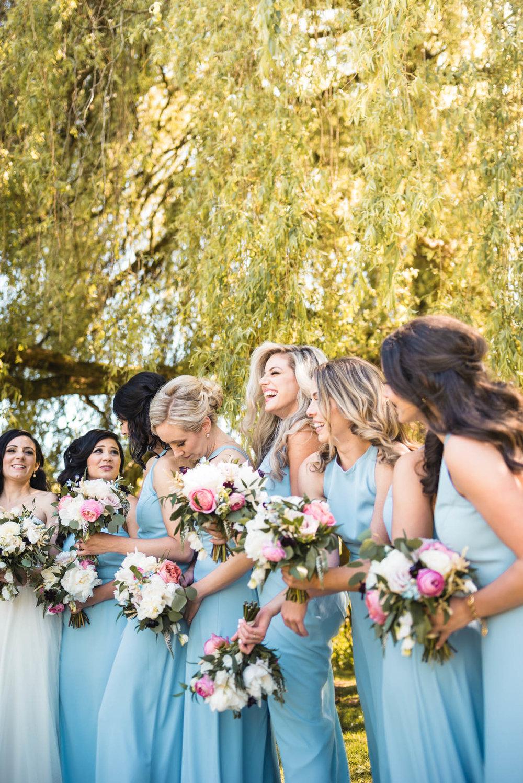 Bridesmaids at the park