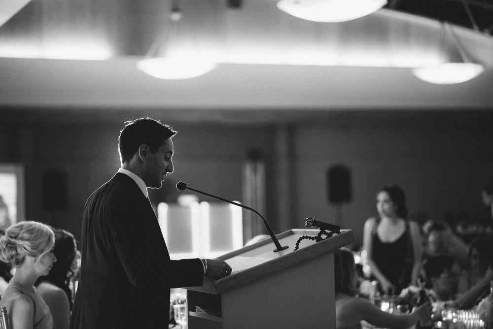 Groom speech at reception