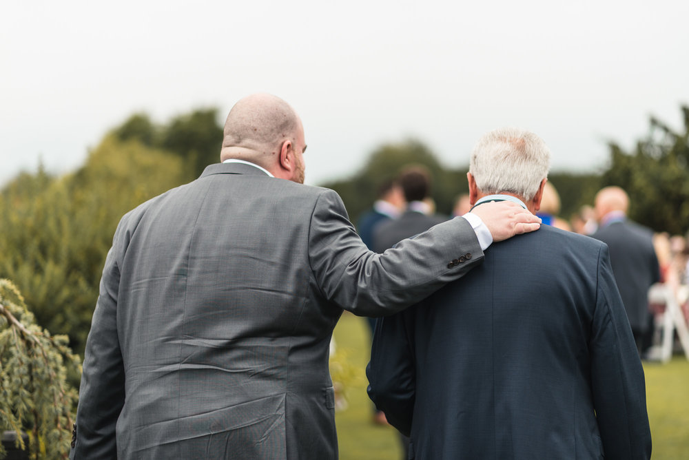 Pastor and Father of the Groom at ceremony