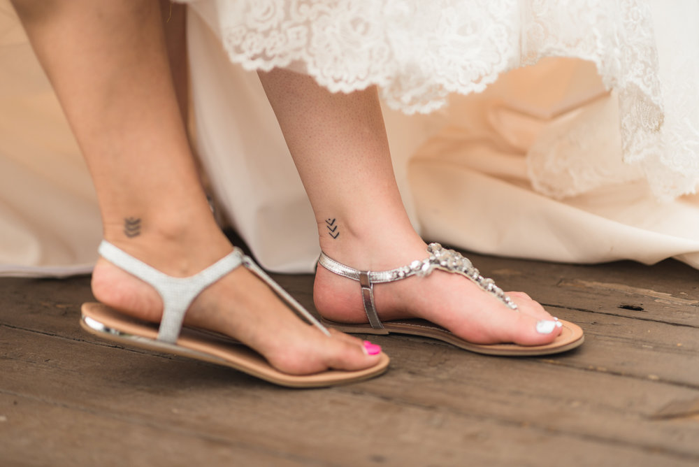 Bride and Maid of Honour matching tattoos