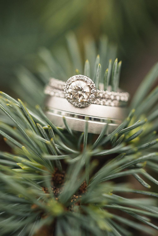 White gold ring details