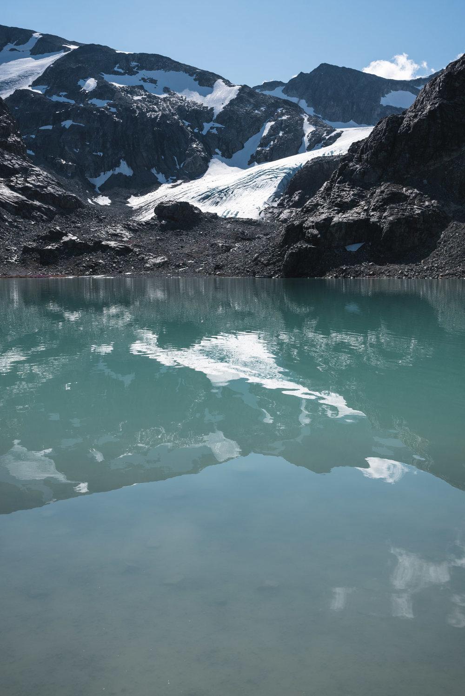 Wedgemount Lake glacier