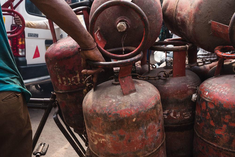 Propane tanks Old Delhi