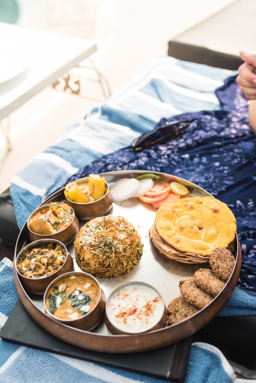Vegetable thali in Varanasi