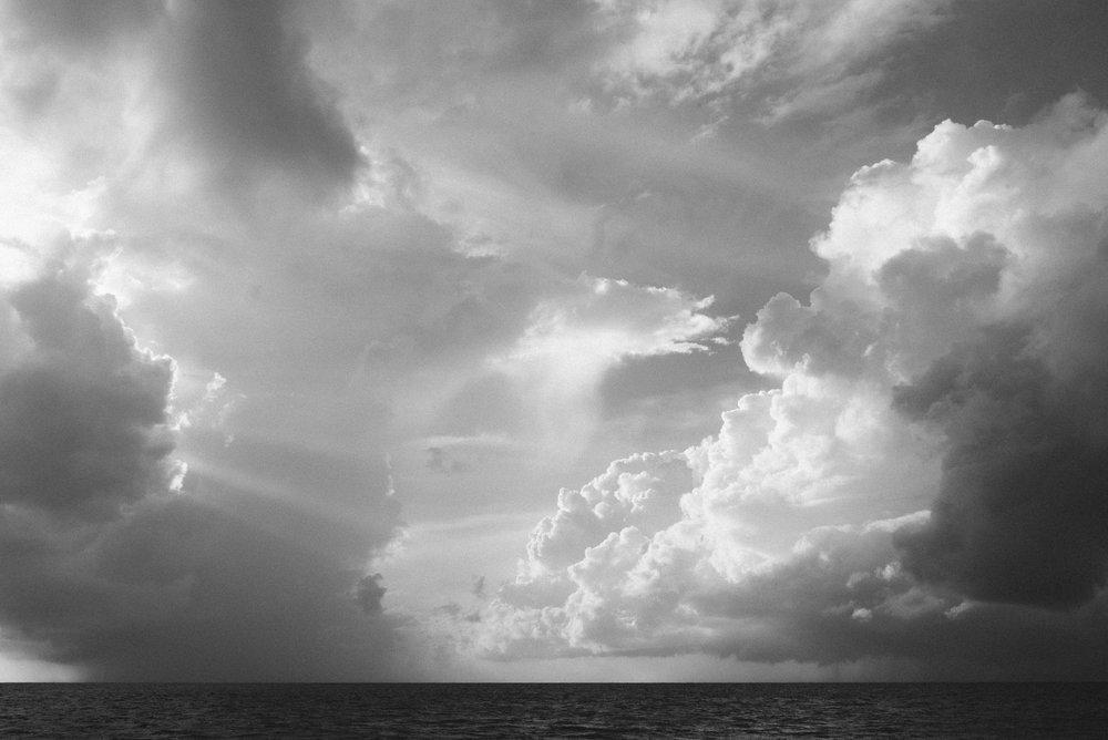 Storm clouds at Marari Beach