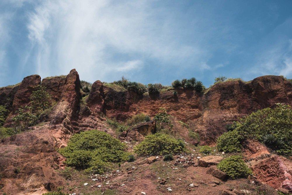 Red cliffs at Varkala Beach