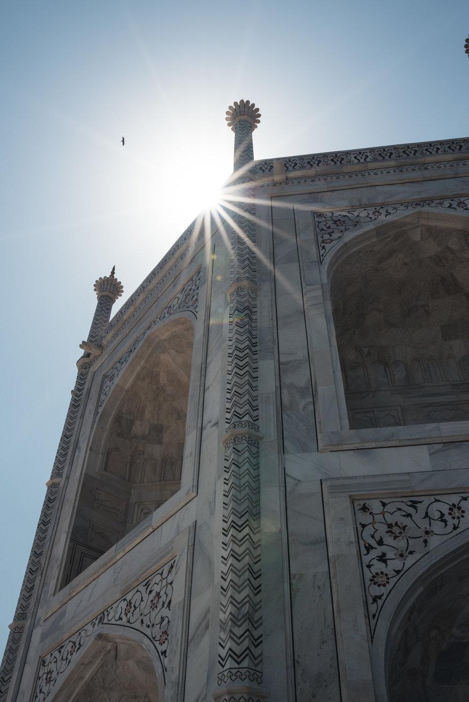 Sunstar at the Taj Mahal