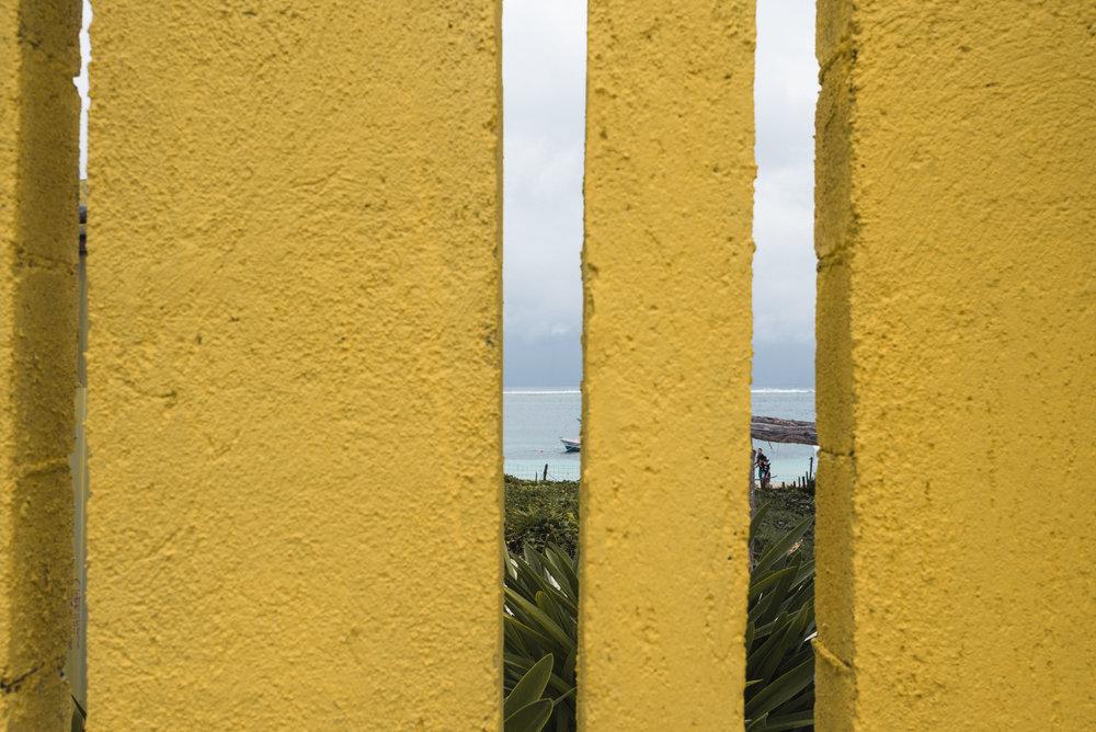 Puerto Morelos yellow fence