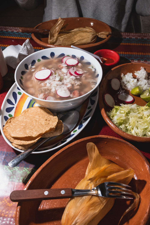 Puerto Vallarta pozole and tamale lunch