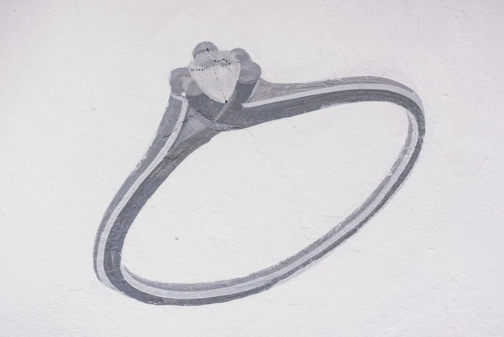 Puerto Vallarta hand painted jewelry on wall