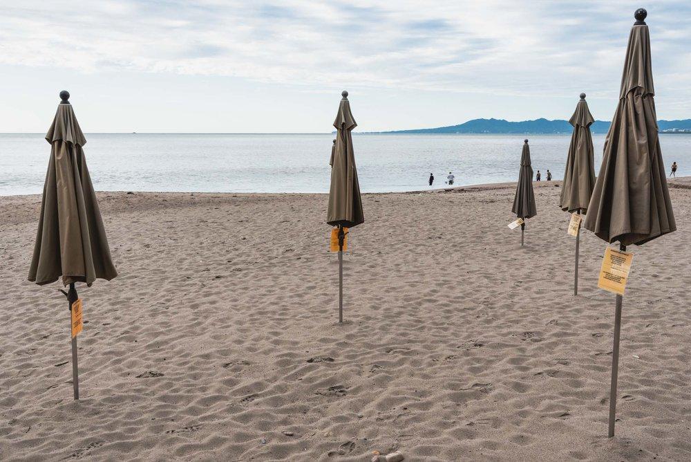 Puerto Vallarta beach umbrellas