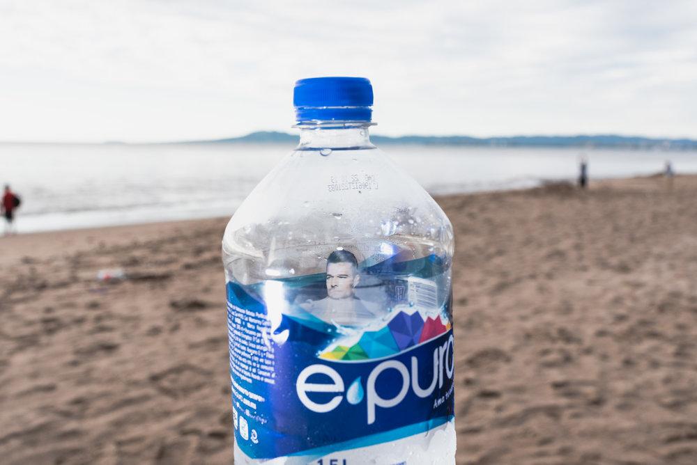 Puerto Vallarta Ricky Martin in water bottle