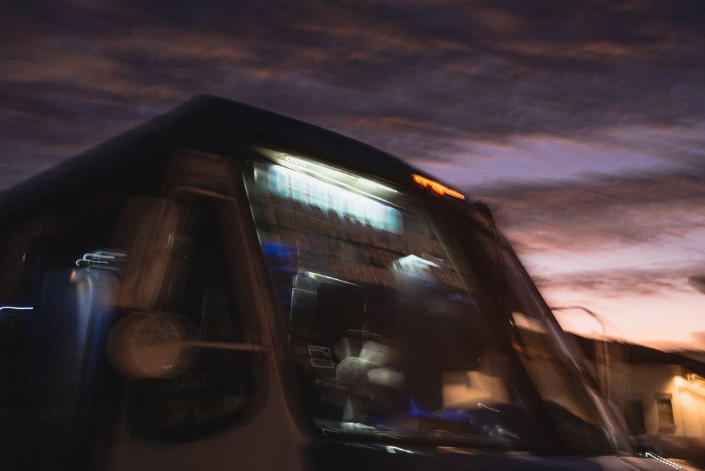 Puerto Vallarta nighttime bus ride