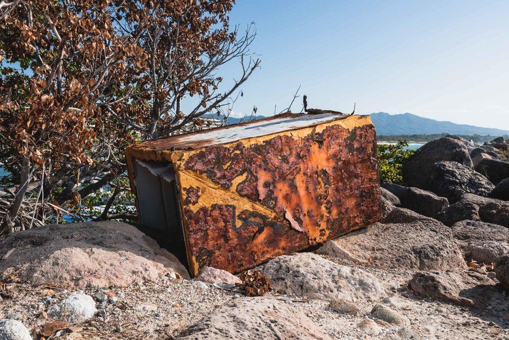 Punta Mita discarded rusty appliance