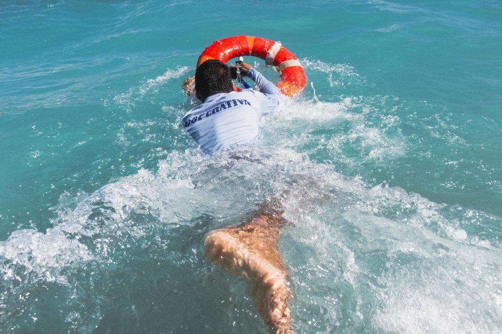 Punta Mita boat captain swimming