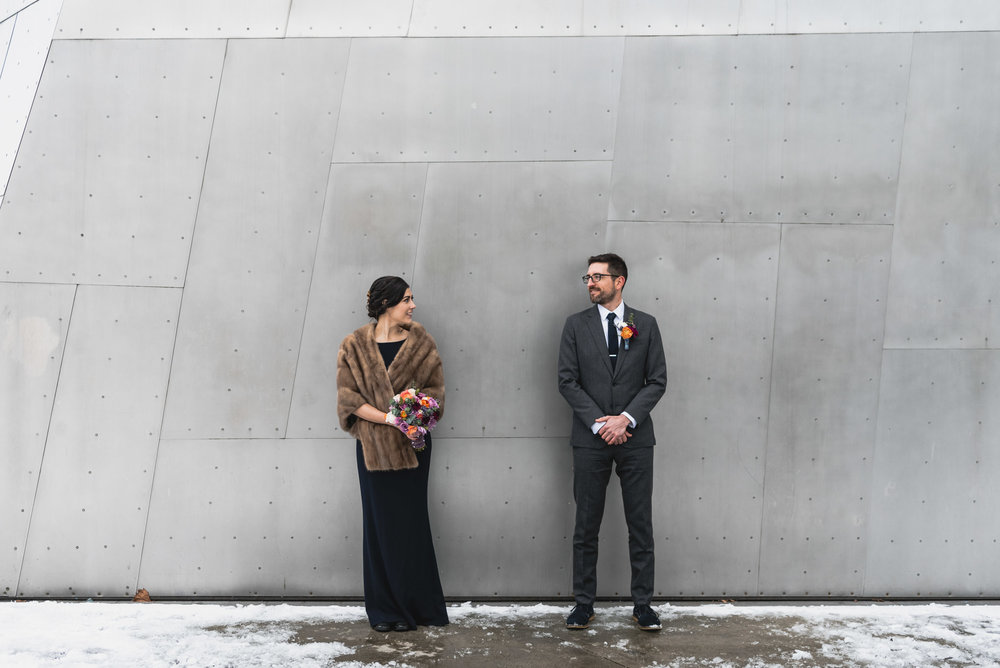 Bride and Groom at Seattle MoPOP