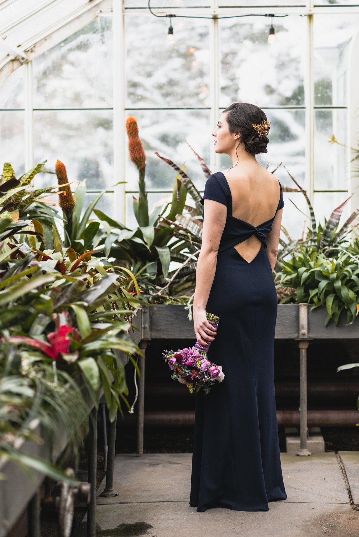Bride portrait in conservatory