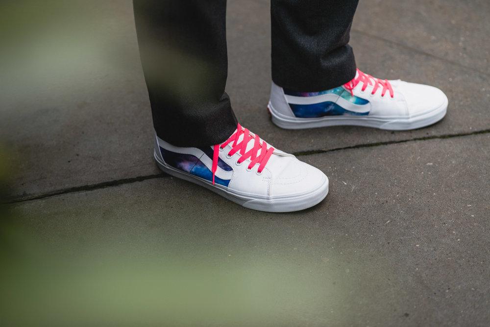 Groom's custom Vans shoes