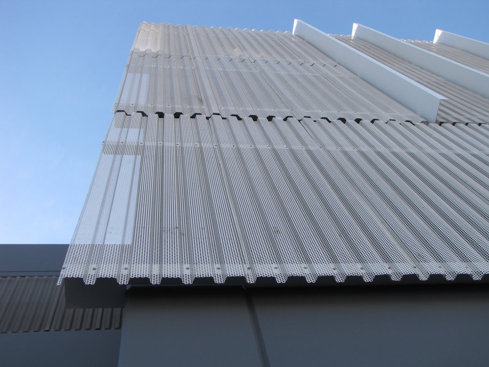 Corrugated Metal Panel Architectural Details : Urbanscreen™ by haas products inc
