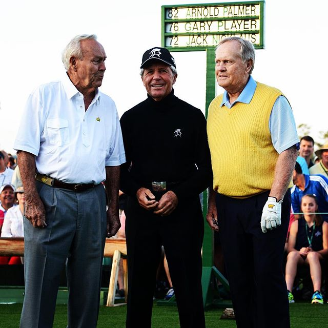 Hello friends, happy masters weekend! Name a better trio who would have crushed a #shotstick