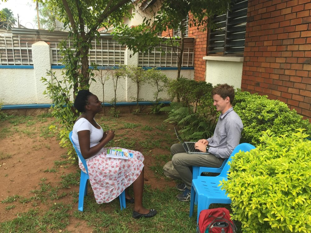 GLOBAL SOCIAL BENEFIT FELLOW, TOM WHEELER, WORKS ON BEHALF OF JIBU IN UGANDA.