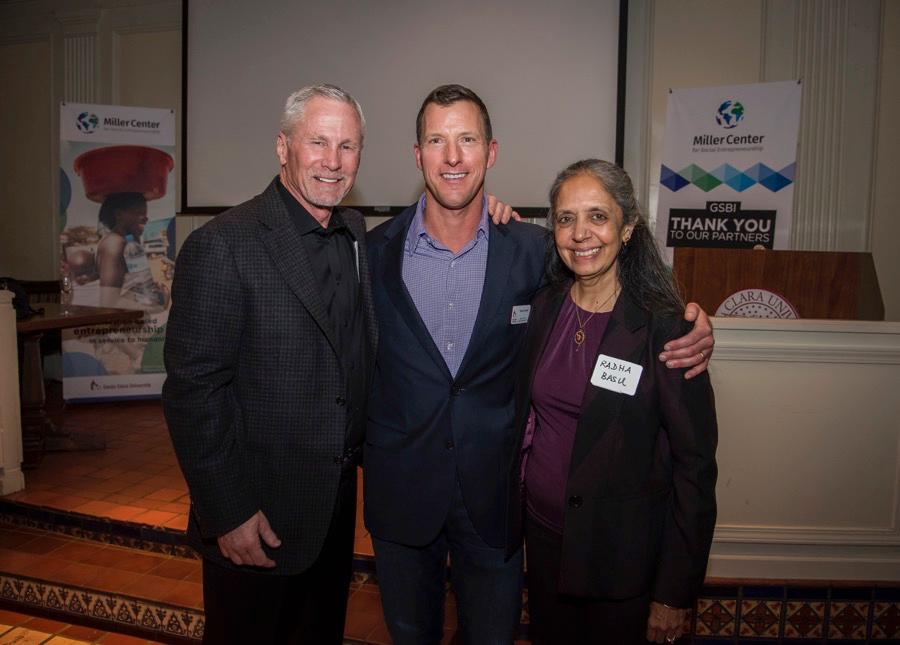 JEFF MILLER, THANE KREINER, AND RAHDA BASU PHOTO CREDIT: JOANNE LEE, SANTA CLARA UNIVERSITY