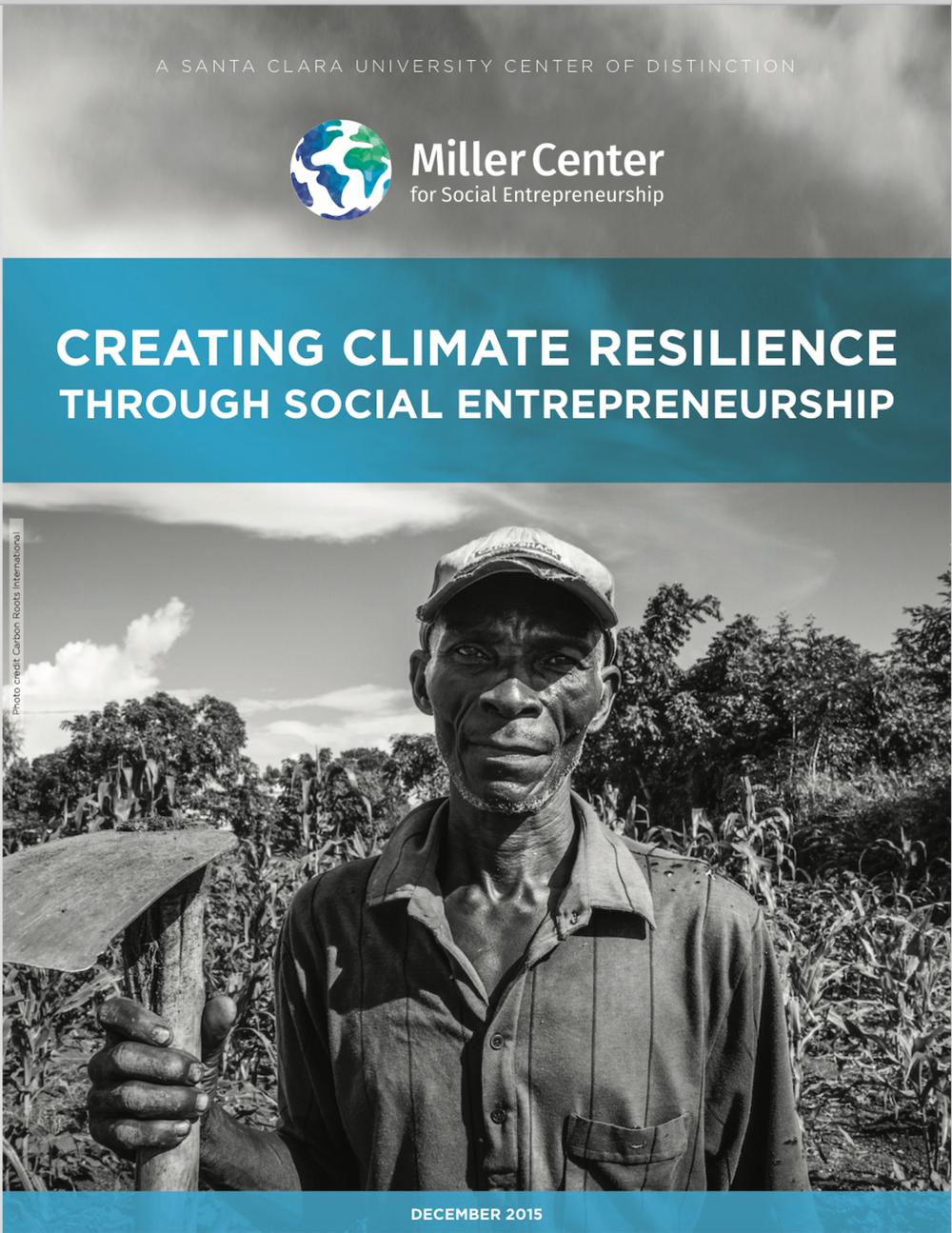 Creating Climate Resilience through Social Entrepreneurship