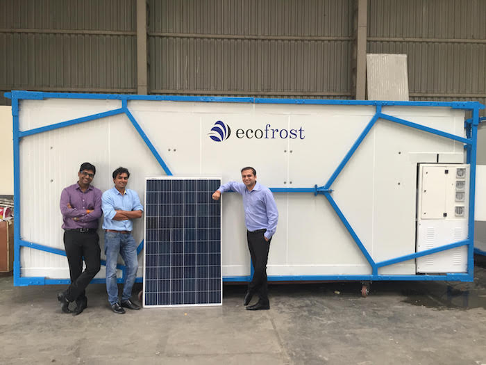 Ecozen Solutions, which has developed a solar powered cold storage system, is another company included in the research project. (Image courtesy of Ecozen Solutions)