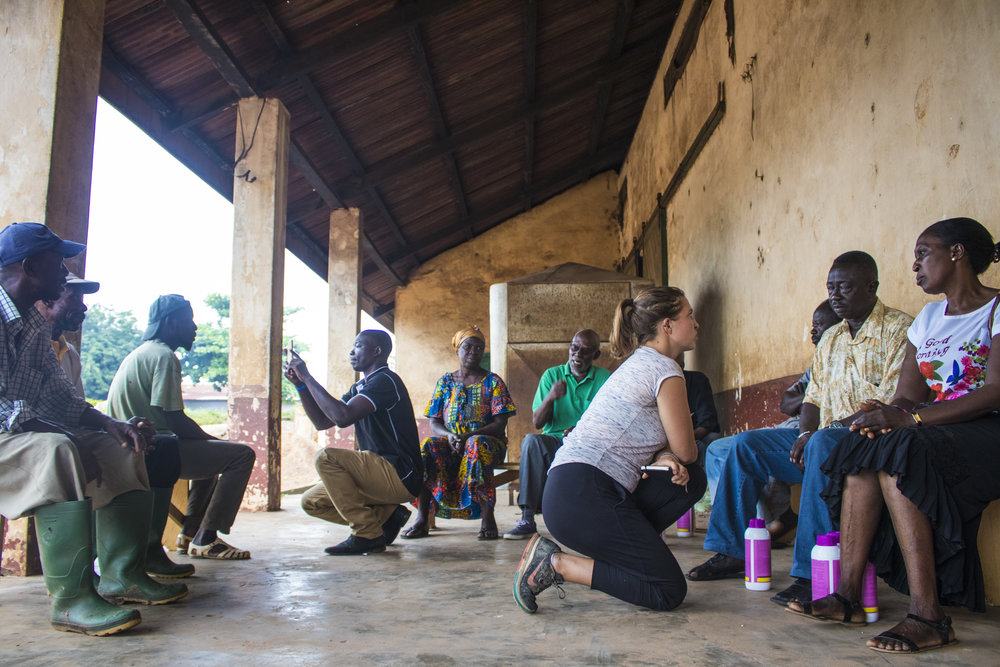 Marisa Rudolph participates in Farmerline's outreach to farmers (Ghana).