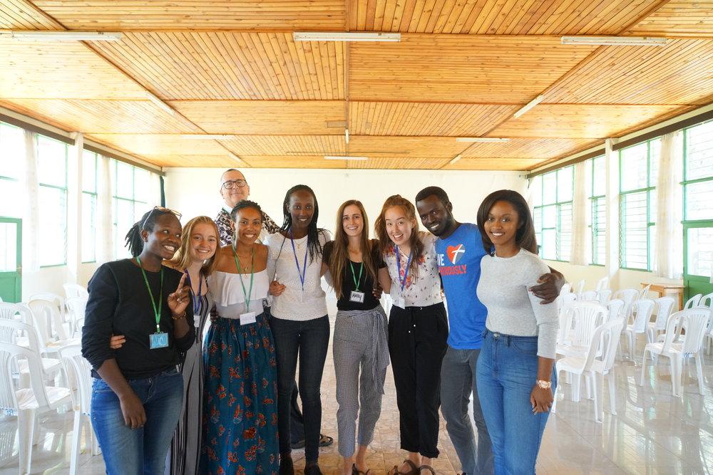 The PICO-Rwanda/Miller Center design-thinking innovation team at Centre Christus in Kigali, Rwanda.