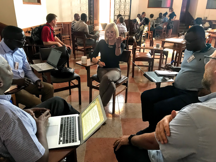 Agnieszka Winkler at Jesuit workshop in Nairobi