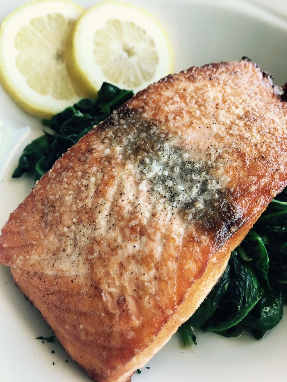 Dinner Menu:  Pan Seared Salmon
