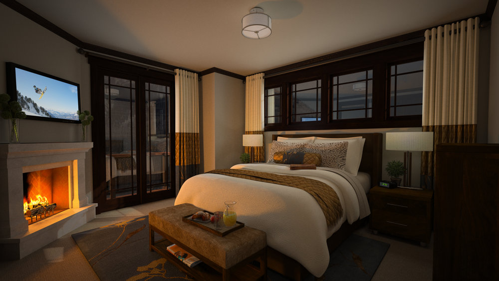 3D Rendering Master Bedroom