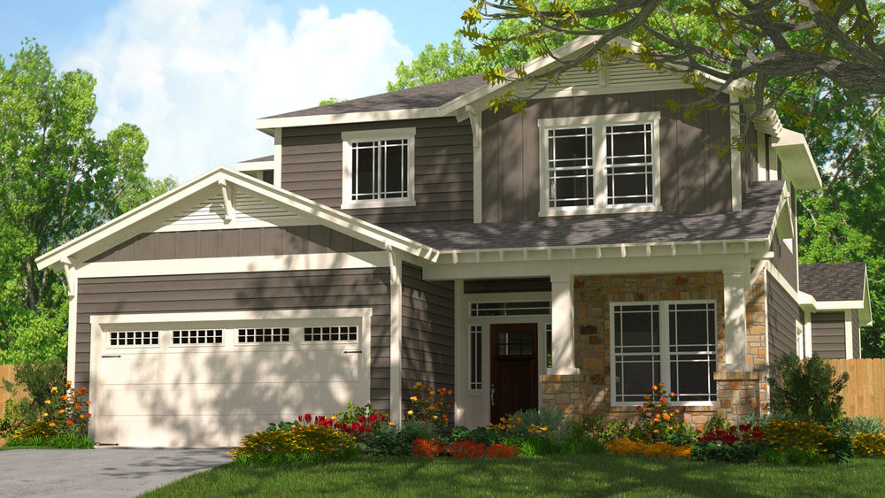 3D Home Rendering - Exterior Paint 1