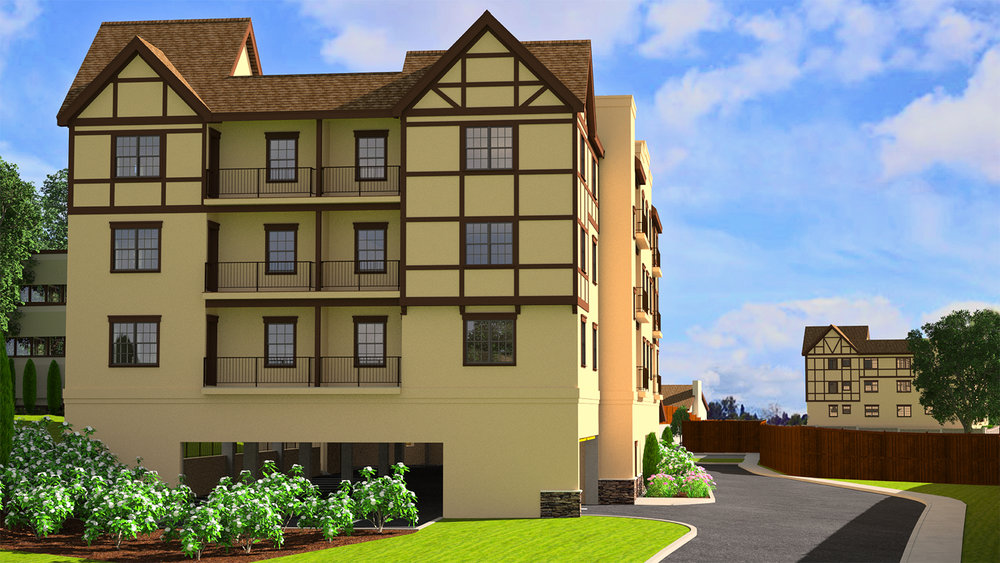 3D Rendering of Apartment Exterior