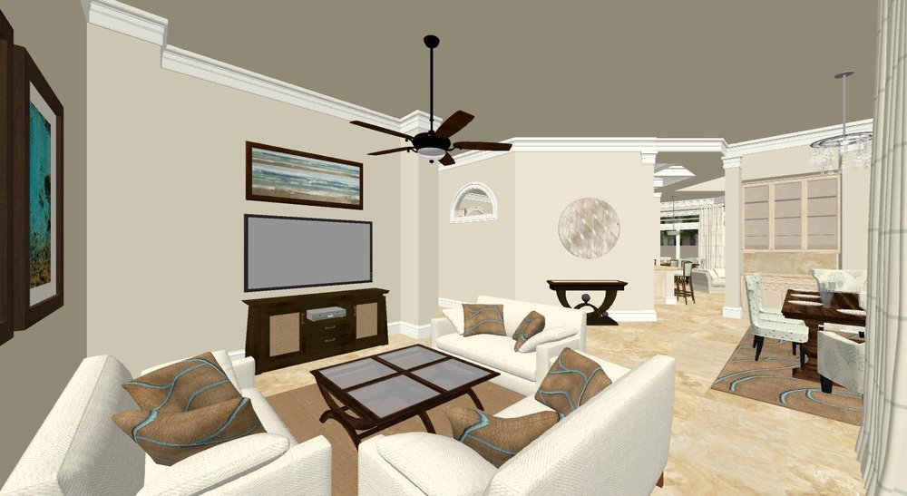 3D Draft Rendering Project - Individuals building a Florida estatecommissioned renderings to review their blueprint for possible revisions.
