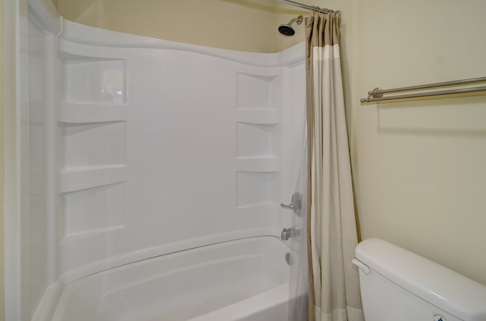 my wants for our master bathroom were a double vanity we dont like to share a sink walk in shower ample lighting a dual flush toilet and storage ample shower lighting
